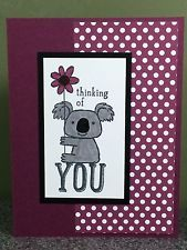 Stampin Up Card Thinking of You Friendship All Occasion Koala