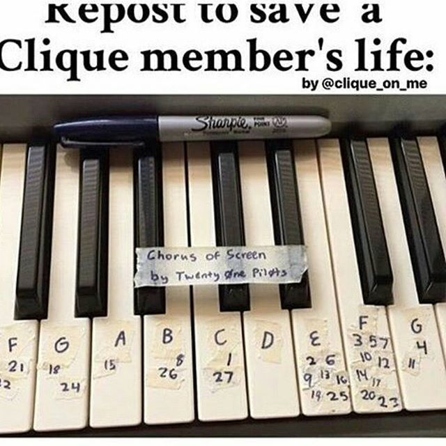 one of these helped me play welcome to the black parade and that was my first song on piano omg