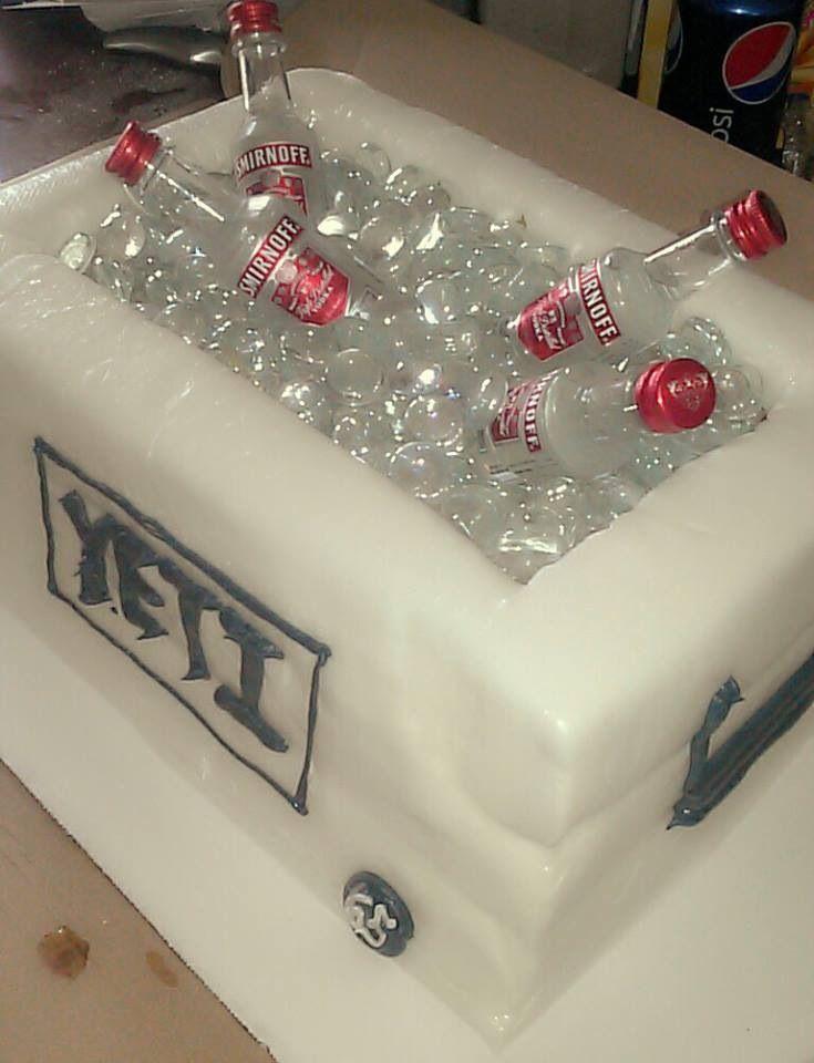 Yeti cooler cake | Cakes | Cupcake cakes, Cake, 60th birthday cakes