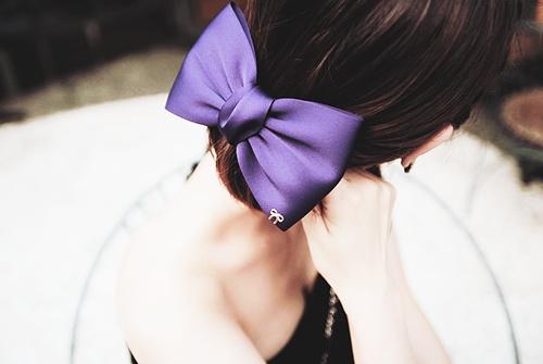 Purple bow - favorite   letters?