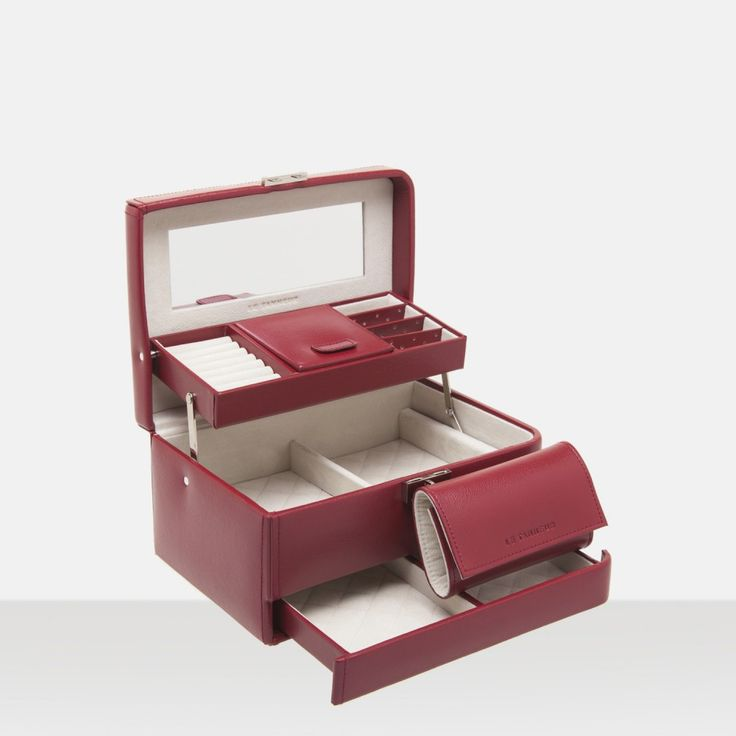 coffret bijoux accessoire rouge coffret bijoux femme le bags purses pinterest bijoux. Black Bedroom Furniture Sets. Home Design Ideas