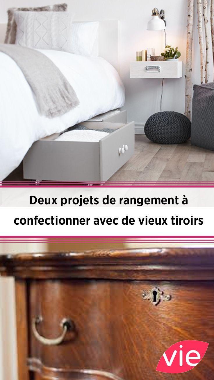 deux projets de rangement a confectionner avec de vieux tiroirs in 2019 diy