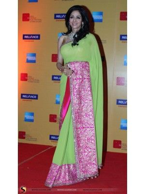 Shridevi In Apple Green Saree At Mumbai Film Festival Opening Ceremony Check our New Bollywood collection, http://20offers.com/shridevi_in_apple_green_saree_at_mumbai_film_festival_opening_ceremony?search=shri#.UzzqKaiSzxA , Available for shipping worldwide,  Buy Bollywood Sarees at lowest price in USA, CANADA, AUSTRALIA, NEW ZEALAND, SINGAPORE, MALYASIA ,UK, NETHERLANDS, FRANCE, JERMANY - Indian Clothing Online!