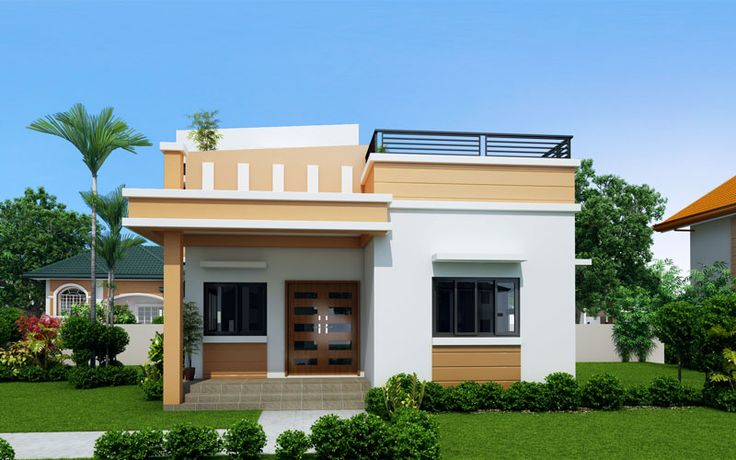 Do It Yourself Home Design: Maryanne - One Storey With Roof Deck (SHD-2015025)