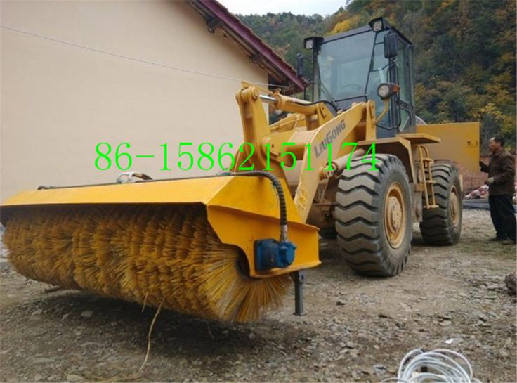 snow sweeper for skid loader/road sweeper attachment