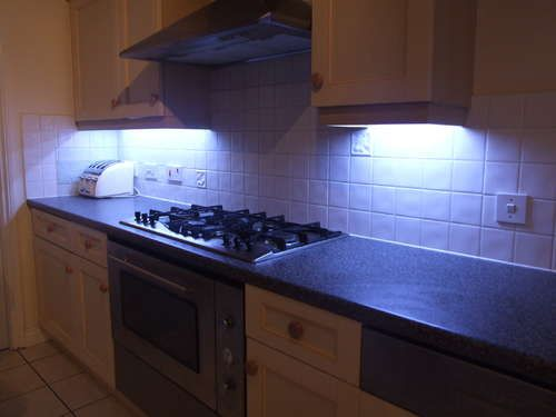 How to fit LED kitchen lights with fade effect.