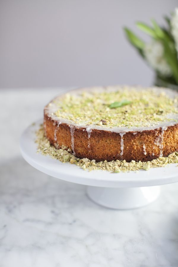 pistachio, cardamom and lime cake