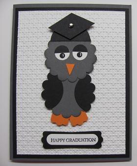 Owl Punch Art graduation card.