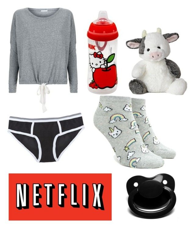 """""""Sick/Lazy Day"""" by dino-baby-girl on Polyvore featuring Eberjey, Hello Kitty and Forever 21"""