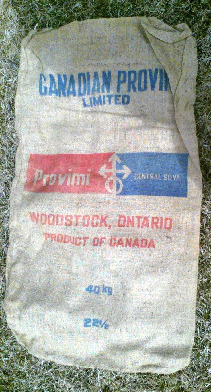 Canadian Provini Burlap Bag