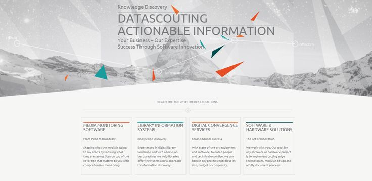 Here it is. Welcome to our new company website. Aside from an updated look, they have created new menu items, which allow you to find any information you need about their company, solutions and portfolio. www.datascouting.com (Website desing by SV/Projects, www.svprojects.gr)