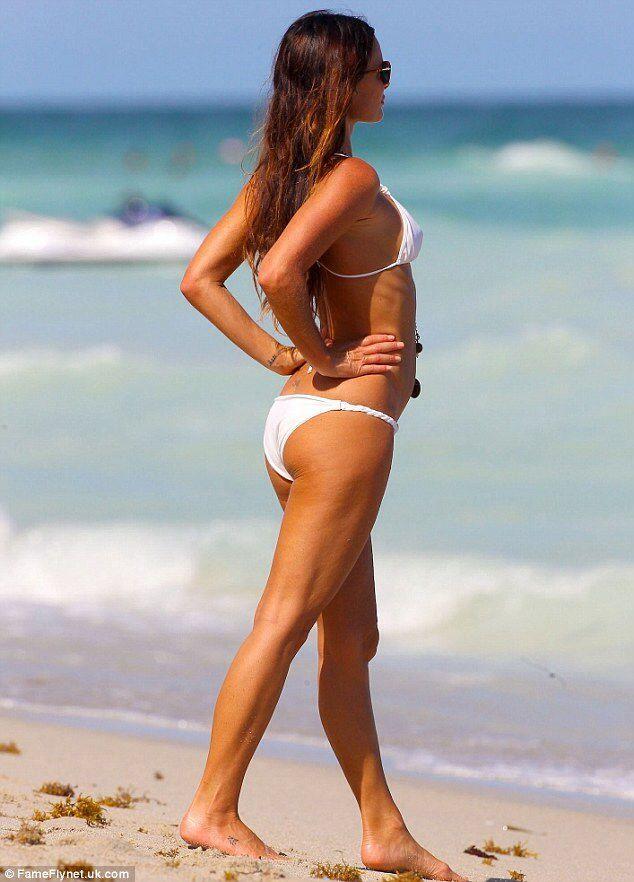 Gabrielle Anwar having a day at the beach