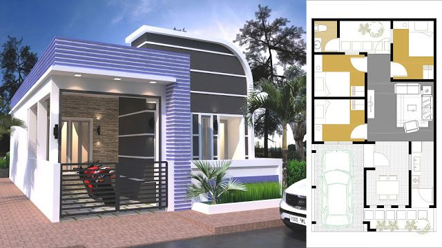Sketchup 3 Bedroom Modern Home Plan 9x9m House Plan Map 30x40 House Plans Small House Design Plans Story House