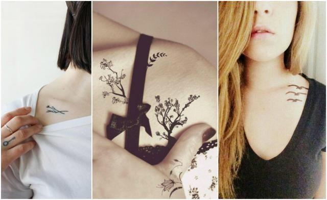 Tego jeszcze nie było! 12 tatuaży nowych tatuaży na obojczyku #WZORY #OBOJCZYK #TATUAŻE #KOBIETA