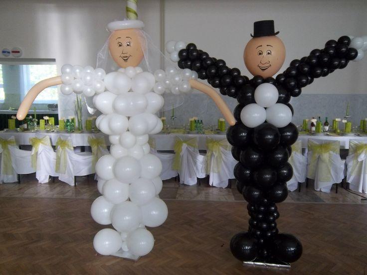 Balónové skulptúry - mladomanželia