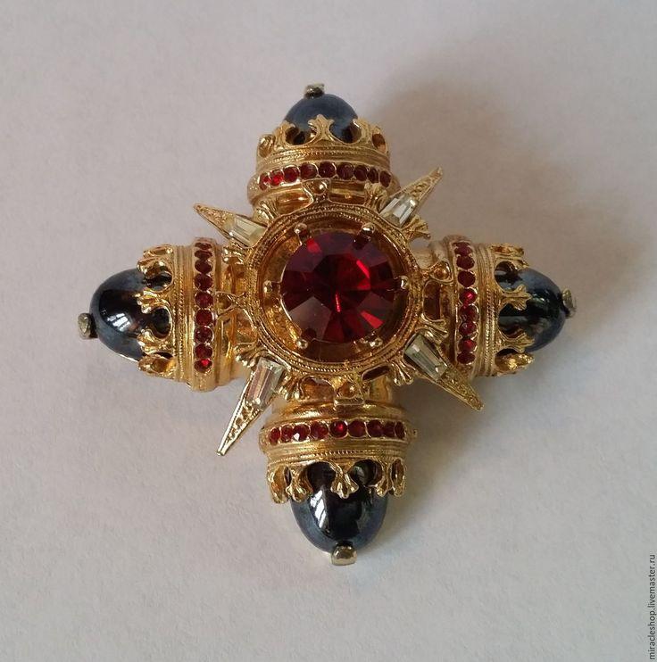 """Купить Винтажная брошь-кулон """"Мальтийский крест"""" Benedikt NY. 60-е годы 20 ве"""