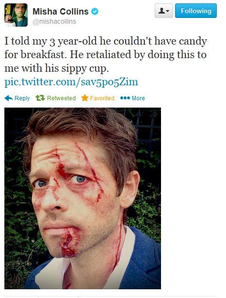 Misha Collins on Twitter [Oh my gosh, lol XD ]