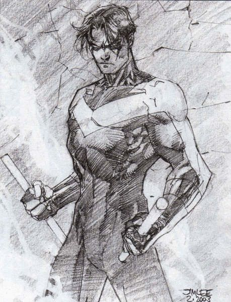 nightwing by Jim Lee