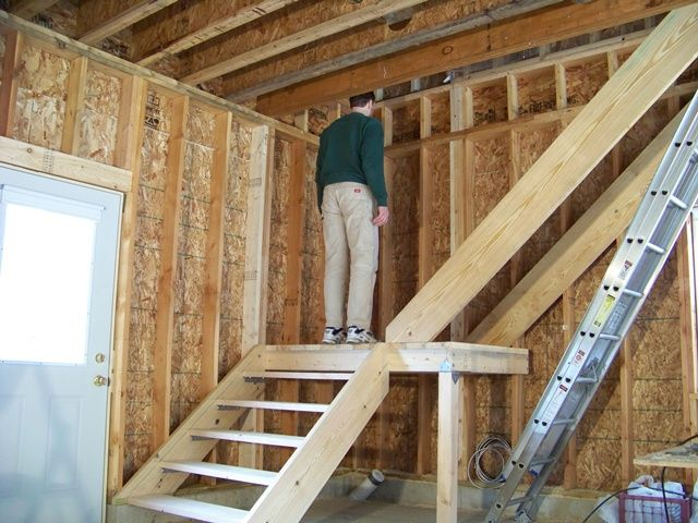 Framing The Interior Of A New Home · Garage StairsBasement ...