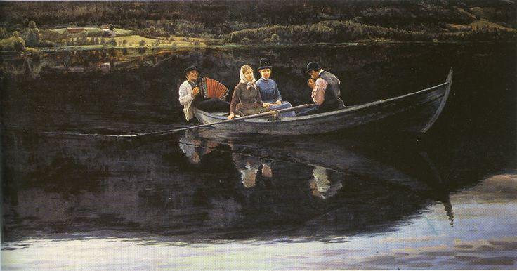 Sankthansaften (Midsummer Eve) 1886 by Christian Skredsvig (1854-1924 (+++)