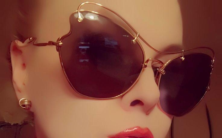 Miu Miu sunglasses 56 RS ,Scenique ,Antique Gold