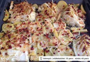 Sült kelkáposzta hagymás krumplival