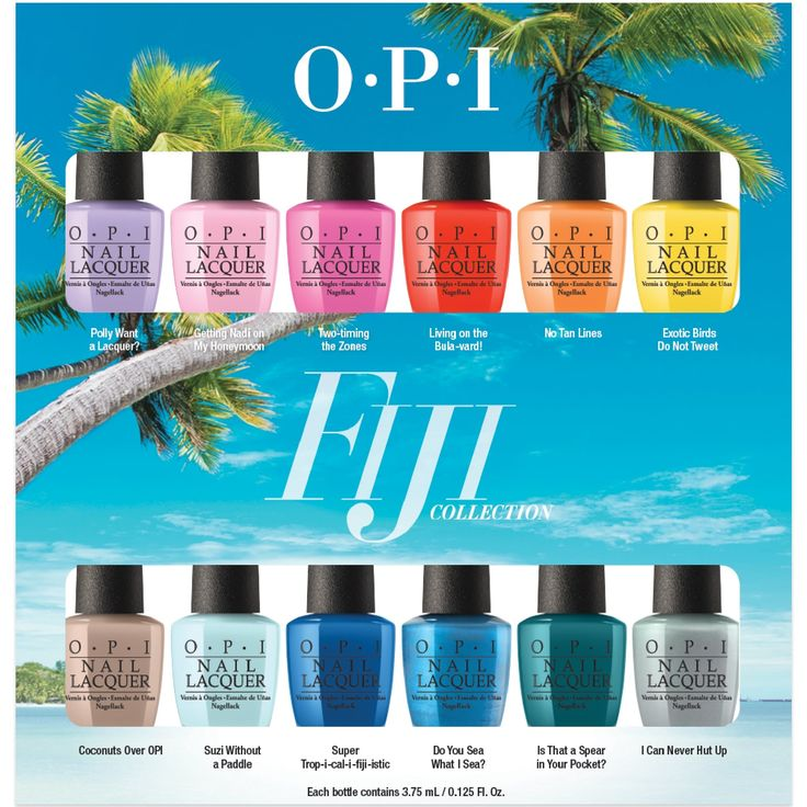 OPI Fiji Nail Polish Collection 2017 - 12 Piece Lacquer Set (12 x 3.75ml)