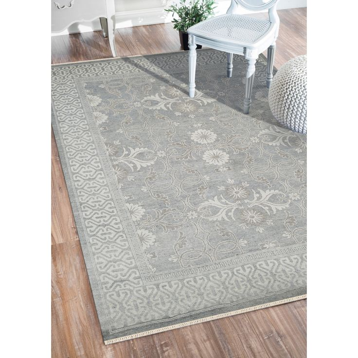Hand Knotted Bethel Grey New Zealand Wool Area Rug 19319519 Great Deals On Rugs Mobile