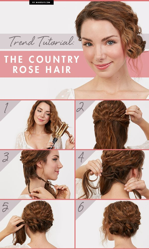 Spring Makeup Tutorial Country Rose Updo Curly Hair