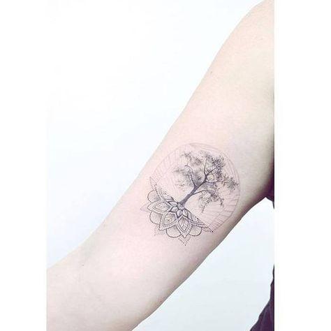 Tatouage mandala arbre de vie - On craque pour un tatouage mandala - Elle