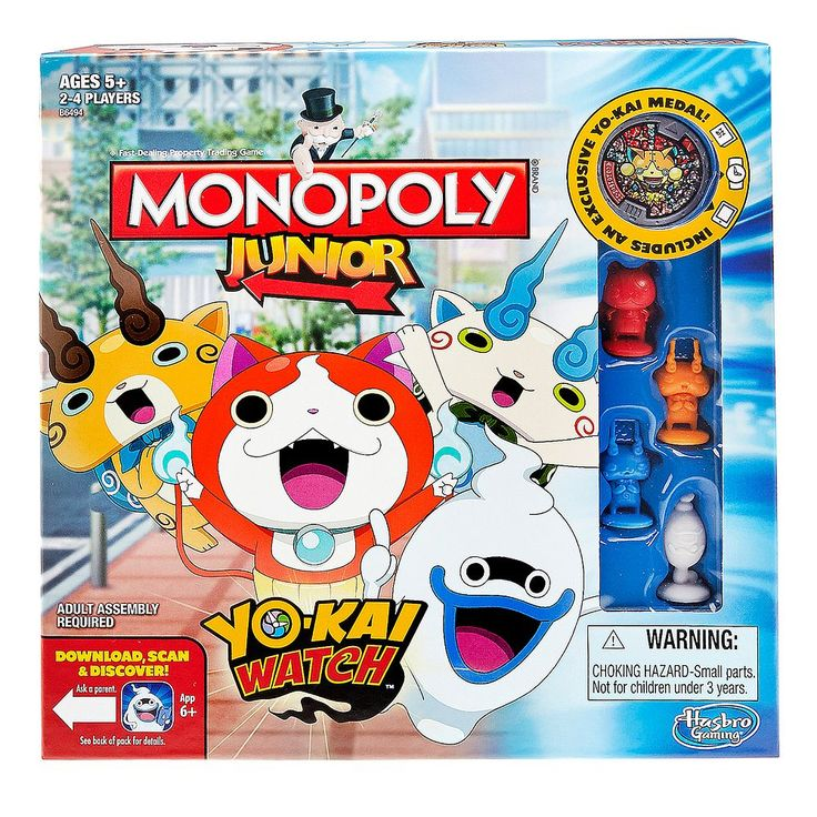 Monopoly Junior: Yo-kai Watch Edition, Multicolor