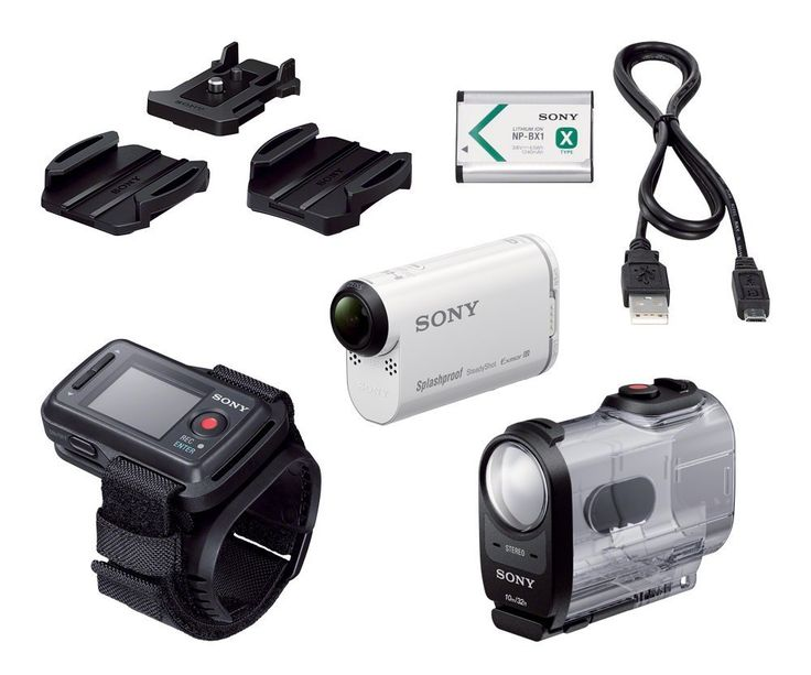Sony HDR-AS200VR/W Action Cam + Live View Remote Kit