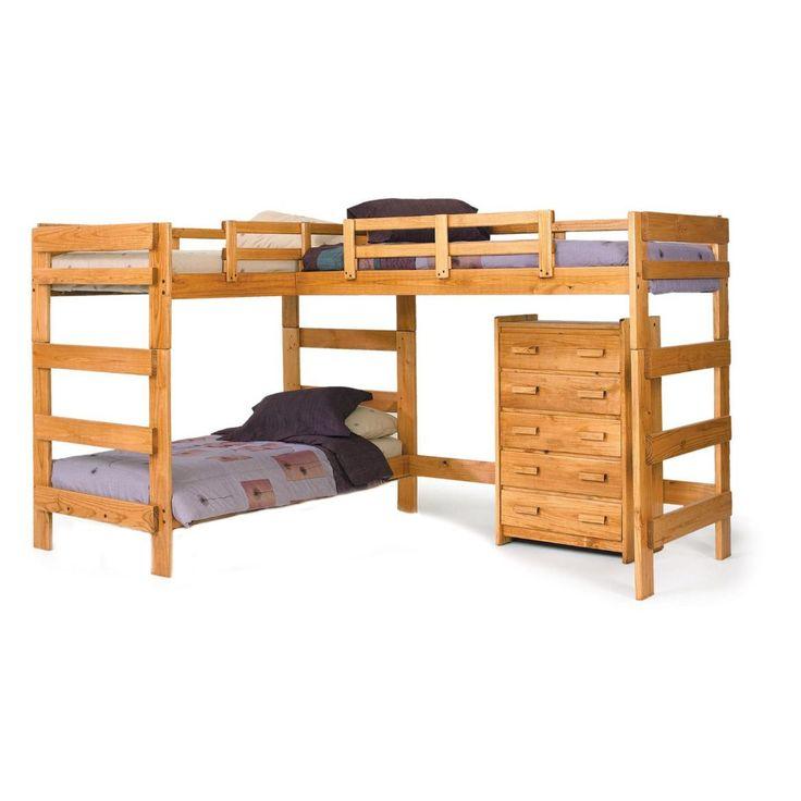 chelsea home l shaped bunk bed - Hausgemachte Etagenbetten Fr Mdchen