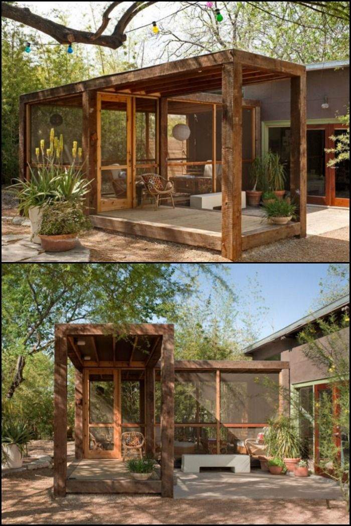 An outdoor room is a great way to enhance your lifestyle and the value of your home. It needn't cost a fortune as this example shows.