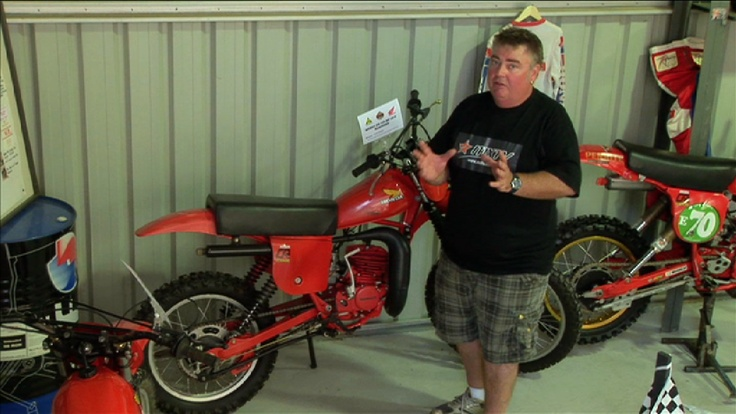 Macca and one of the many Honda Elsinore's on display at the Honda Broadford Bike Bonanza.  www.honda.com.au
