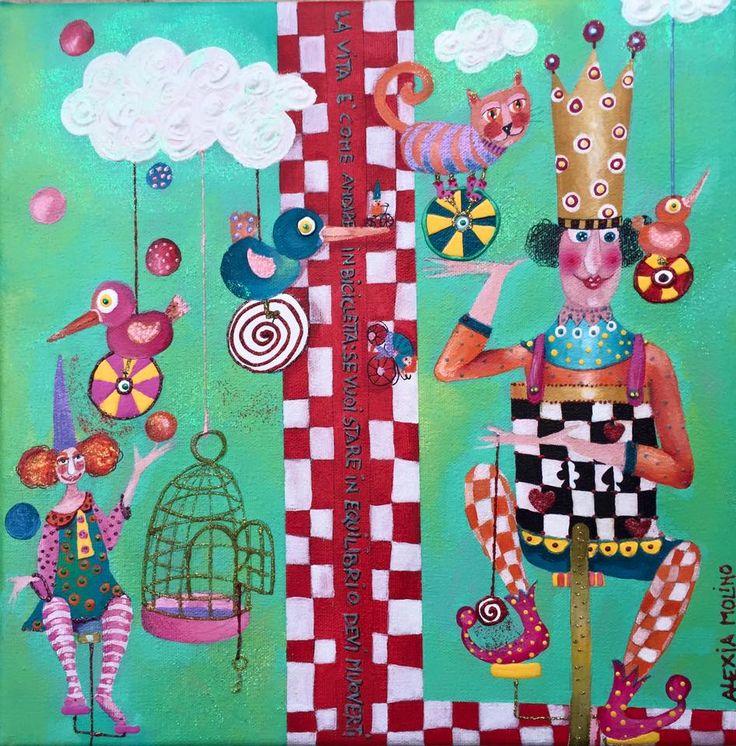 Alexia Molino - La vita è come andare in bicicletta: se vuoi stare in equilibrio devi muoverti (30x30)