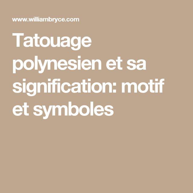 1000 id es sur le th me signification tatouage polyn sien sur pinterest - Symbole representant la famille ...