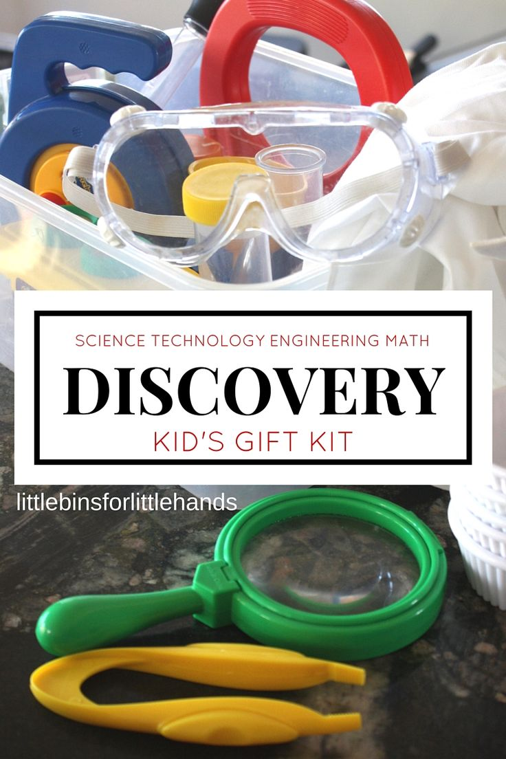 Make a Kid's Science Discovery Kit for Clutter Free Gift Giving. STEM gift for kids. Preschool science kit.