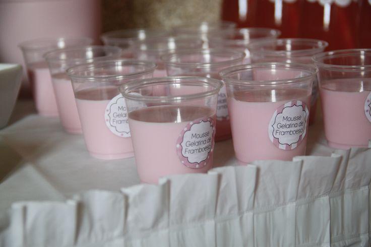 Mousse gelatina de framboesa