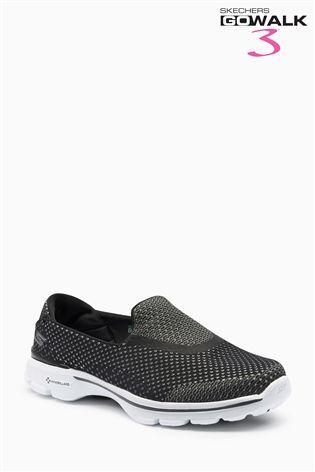 Buy Skechers® Black Go Walk 3 Go Knit from the Next UK online shop