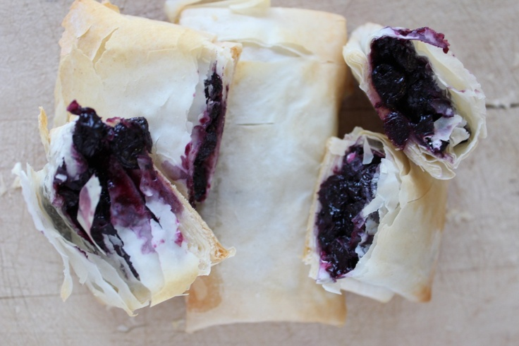 Mothers Day Brunch Idea: Homemade Blueberry Strudels