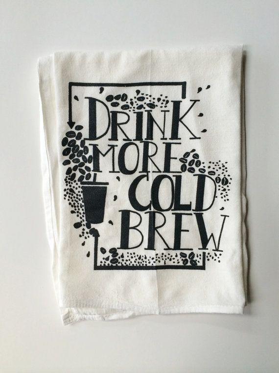 Kaffee Geschirrtuch Leinwand gedruckt Mehl Sack von andMorgan