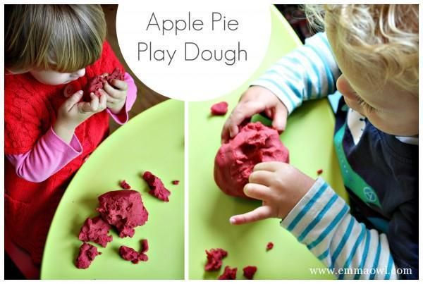 Apple Pie Play Dough for Kids. A wonderful fall activity!