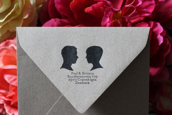 Customized silhouette rubber stamp by HouseThatLarsBuilt on Etsy, $44.75