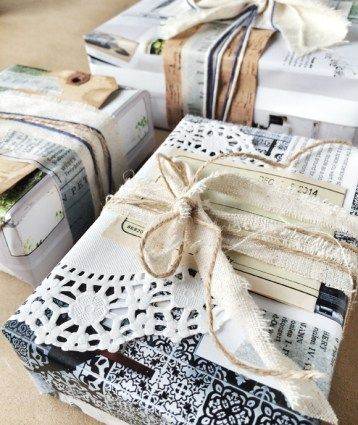 DIY gift wrap ideas for all of your holiday presents!