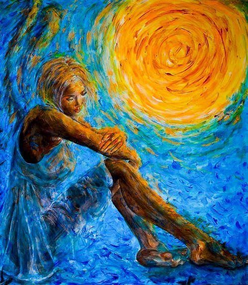 Blue Painting Dancer