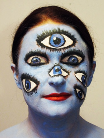 EYEBALLS Halloween makeup for client by Maria Lee Makeup and Hair www.MariaLeeMakeup.com