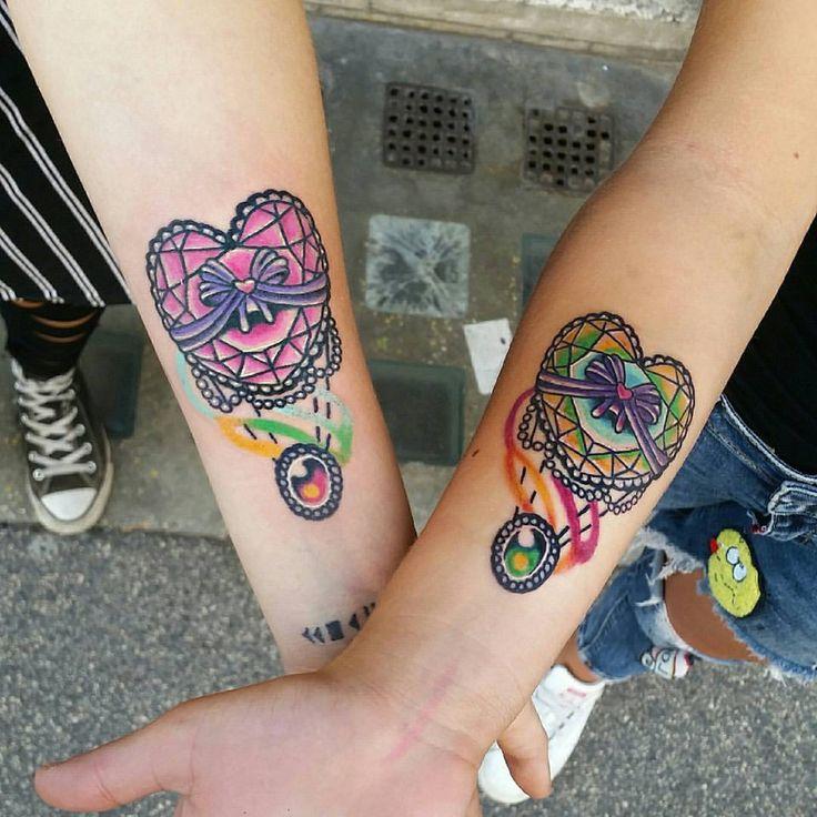 """""""Stesso cuore, stessa pelle"""" questo è il patto tra sorelle, anime che mai potrà dividere la realtà. #ZeroSei #Tattoo #Roma #Tatuaggi #Gabriele #Perroni"""