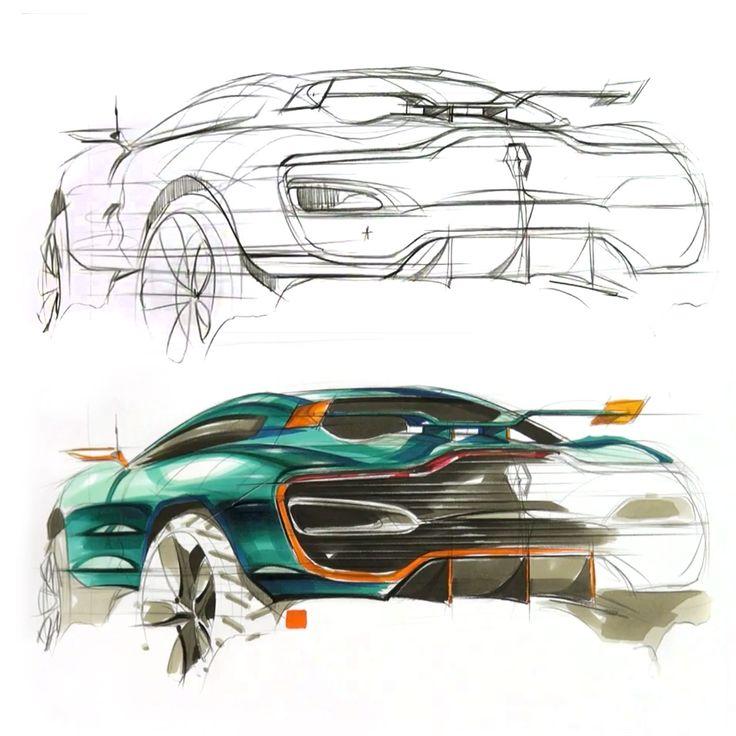 Renault Alpine Concept Sketch Video by Sangwon Seok http://www.carbodydesign.com/tutorial/39345/renault-alpine-concept-sketch-video-2/