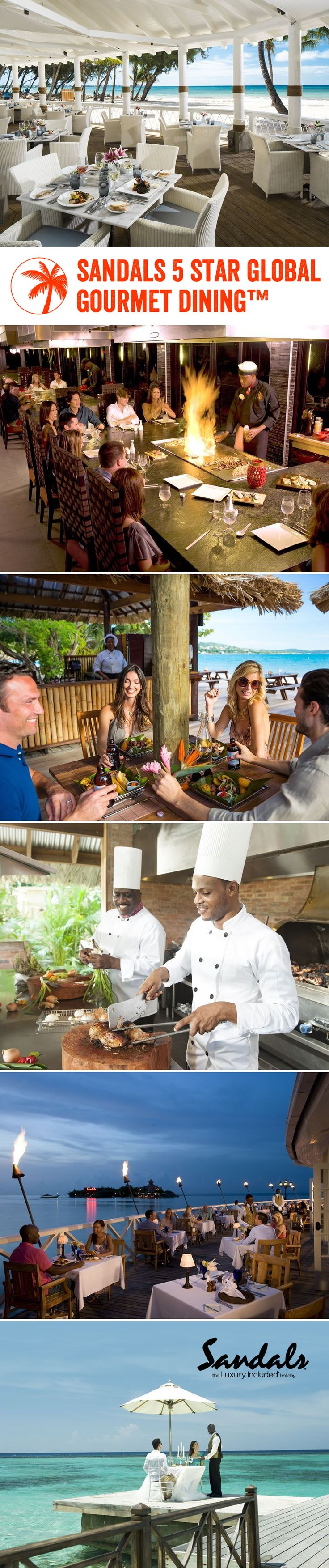 With up to 16 unique restaurants in each resort, Sandals' foodie journey is full of tantalising moments you won't want to miss